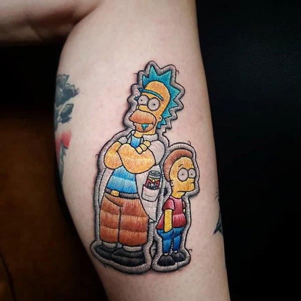 As tatuagens estilo bordado de Duda Lozano