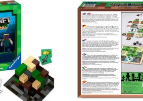 Minecraft de tabuleiro traz estratégia, exploração e construção