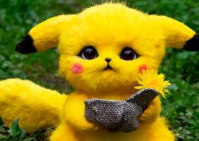 O boneco do Detetive Pikachu que parece de verdade