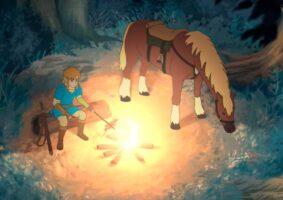 Uma animação de Zelda no estilo Studio Ghibli