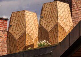 As modernas colmeias hexagonais na Noruega