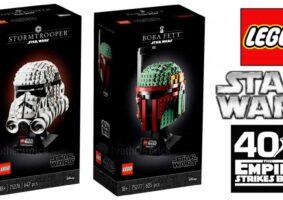 Bustos LEGO do Star Wars trazem Stormtrooper e Boba Fett