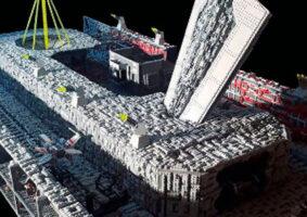 LEGO Diorama da Estrelada Morte tem 50 mil peças e replica perseguição de Vader e Luke