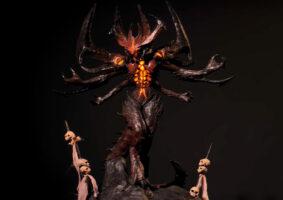 Youtuber cria estátua do Diablo com caneta impressora 3D