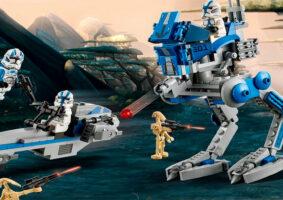 LEGO dos Clone Troopers Legião 501 se torna realidade