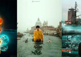 Mundos surreais com fotos, por Umut Recber