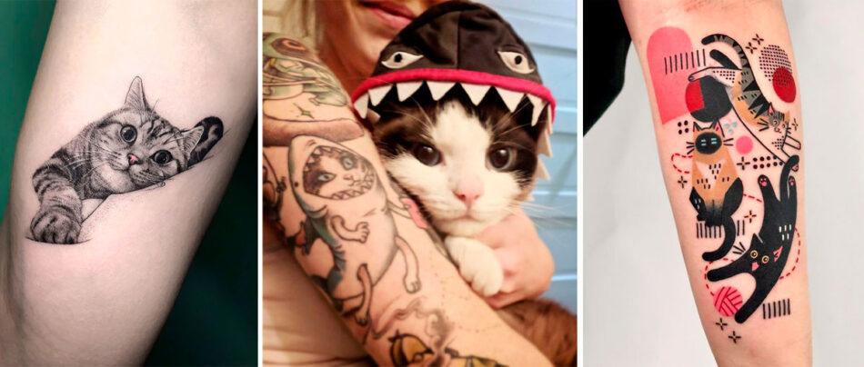22 Tatuagens de Gatos para Rir ou para se Inspirar