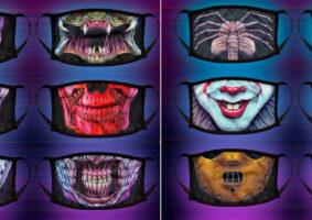 Máscaras de criaturas de filmes conhecidos de terror