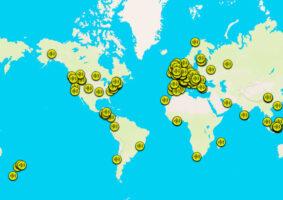 Um mapa sonoro com sons da natureza do mundo todo
