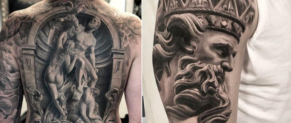 7 magníficas tatuagens gregas e romanas