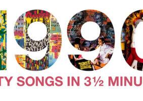 Um remix com 60 músicas dos anos 90