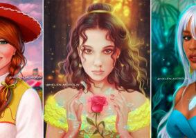 Celebridades reimaginadas como personagens da cultura pop