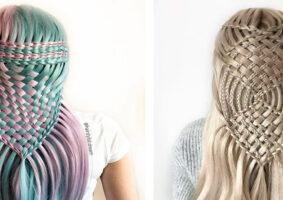 Menina de 17 anos cria estilos de cabelo magníficos