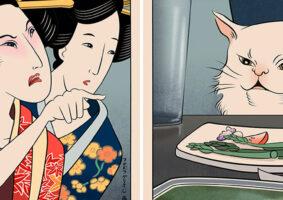 Os memes mais famosos em artes ukiyo-e