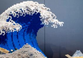 A Grande Onda de Kanagawa em LEGO