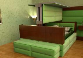 Um genial conceito de cama contra terremotos