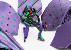 Olha só essa bela coleção de gravatas do Evangelion