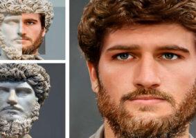 O visual de imperadores Romanos recriados de forma realista