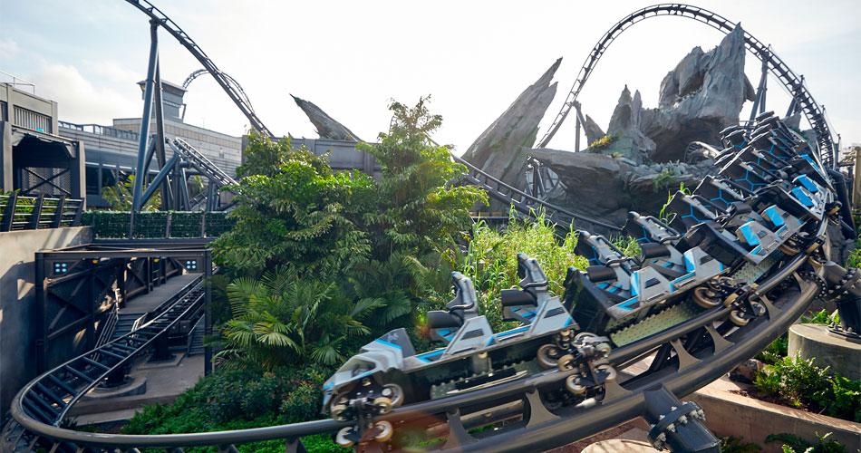Nova montanha-russa do Jurassic Park é apresentada em vídeo