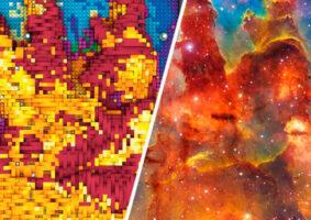 Os Pilares da Criação em LEGO