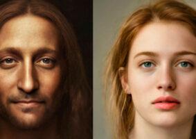 A aparência de personalidades históricas retratada de forma realista